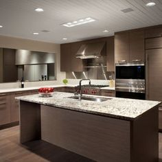 Modern Kitchen brown Design Ideas, Pictures, Remodel and Decor