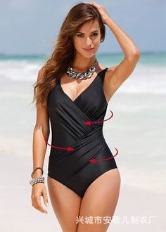 d24194a432 Swimwear Big Size Women 2018 Sexy Summer One Piece Solid Bathing Suit Push  Up Plus Size Beach Wear Swimsuit