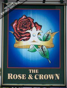 Rose & Crown pub sign, Brockenhurst