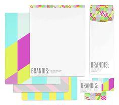Love this colourful branding for Brandis, a women's handbag maker.