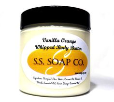 Orange Vanilla Whipped Body Butter with Shea Butter