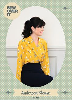 The Anderson Blouse - a new PDF pattern from Sew Over It! http://shop.sewoverit.co.uk/products/anderson-blouse-pdf-sewing-pattern