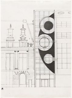 MoMA   The Collection   Gordon Matta-Clark. Untitled (Proposal for a Museum of Modern Art Project). (1978)