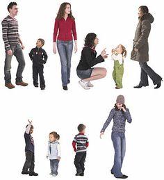 Bibliothèque d'objets 2D/3D PEOPLE - FAMILY DOSCH DESIGN