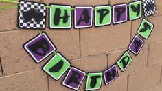 Monster truck happy birthday banner by AandNBannerCreations