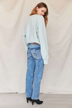 Deconstructed Jeans Trend - Levis HM Paige from The Difference Between A $1,395 Pair Of Jeans & A $43 Pair