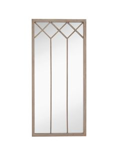 This brand new traditional mirror is an impressive 35 x 75 rectangle, featured in a natural grey wash frame.