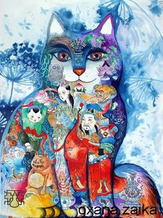"♥ ""Cat of China"" by Oxana Zaika on ARTwanted."