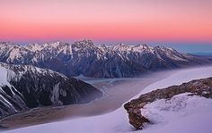 Clear (and windy!) sunrise in Mount Cook National Park.