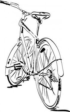 Image result for sketched bicycle