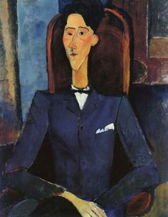 Amedeo Modigliani (1884-1920, Italian), 1916, Jean Cocteau, Oil on canvas, 100.4 x 81.3 cm, Henry and Rose Pearlman Collection, Princeton University Art Museum.