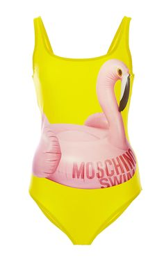 Flamingo Maillot by Moschino Mare for Preorder on Moda Operandi