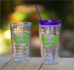"Quench your thirst with a Smile! This highly durable tumbler is packed with terrific features. 6"" tall x 3.4"" wide (without lid)/6.8"" tall (with lid), Holds both hot and cold liquids, Microwave, freezer and dishwasher safe, Greatly reduces condensation and sweating, BPA free and FDA approved, Made in the USA,  Lifetime Guarantee. $15.00"
