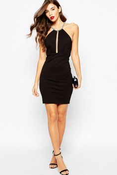 Shop Forever Unique Kala Mini Dress With Jewel Back at ASOS. Cindy Mello, Asos, Zara, Forever Unique, Pencil Dress, Shop Forever, Fashion Online, Special Occasion, Bodycon Dress