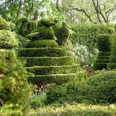 Sculpture Garden at the Ladew Topiary Garden's--one of the country's largest