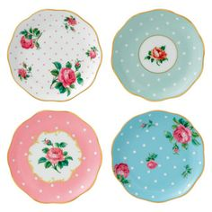 Royal Albert - New Country Roses Coasters Set/4 Mixed