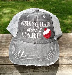 Fishing Hair Don't Care with Glitter Bobber by lana5753 on Etsy