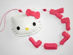 Hello Kitty Name Banner  made to order  5 by twinsandcrafts, $24.00