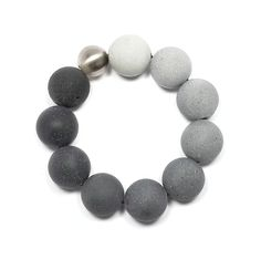 Concrete + Stainless Steel Bracelet | Orbis Stainless Collection | KMB125 | KONZUK Jewelry