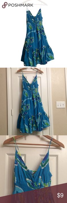 Pretty lined cotton summer dress Sz Small Like new, 38 inches long adjustable straps, 15/30 inches between armpits 😍 Dresses Maxi