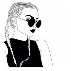 Girl hipster draw
