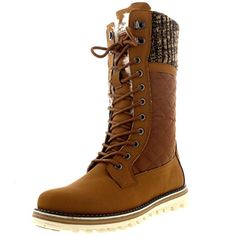 Take a look - Polar Womens Knitted Cardy Cuff Thermal Fur Lined Quilted Waterproof Tall Winter Snow Boots Good Snow Boots, Mens Snow Boots, Calf Boots, Shoe Boots, Ringe Gold, Winter Fashion Boots, Waterproof Winter Boots, Designer Boots, Boots Online