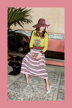 Pink Middi Skirt Gucci Prefall 2016