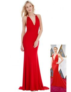 Goddiva Oscar Dress in Style of Charlize Theron - Red - ShopStyle Ball Dresses, Ball Gowns, Formal Dresses, Red Wedding Receptions, Rihanna Looks, Oscar Dresses, Satin Gown, Open Back Dresses, Charlize Theron
