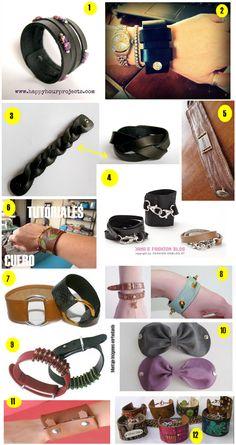 12 tutoriales pulseras de cuero