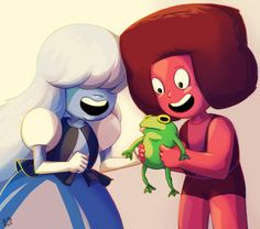 OP: Cuteness overload in this episode I cried  also I love how the blue gems have their eyes covered xD | Steven Universe