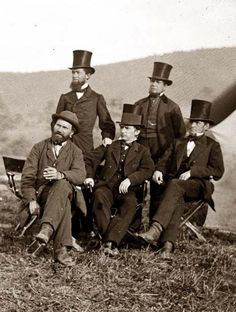 President Lincoln's Secret Service Above we show a moving photo of Antietam, Maryland (vicinity). Major Allan Pinkerton, Secret Service Department and friends. It was made in 1862 by Gardner, Alexander, American Presidents, Us Presidents, American Civil War, American History, Abraham Lincoln, Old Photos, Vintage Photos, Maryland, Presidential History