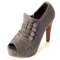 Fall and Winter Fashion Ladies Pumps Gray $20.40