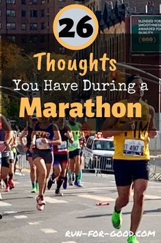 During a marathon, your thoughts can go from triumph to despair very quickly. See if you recognize these thoughts that commonly occur to marathoners. Running Humor, Running Motivation, Running Workouts, Running Training, Running Tips, Marathon Training For Beginners, Running For Beginners, Half Marathon Training, How To Start Running