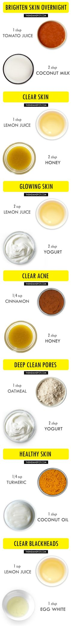 2 ingredient amazing face mask recipes