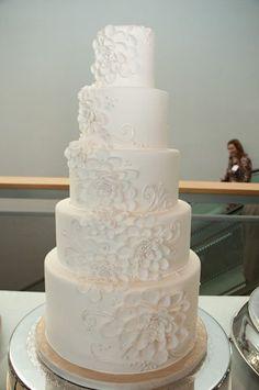 love, an all white cake