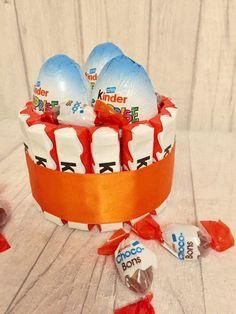 Kinder egg sweet cake Surprise Cake, Egg Cake, Sweet Box, Craft Box, Sweet Cakes, 30th Birthday, Holidays And Events, Sweet Treats, Birthdays