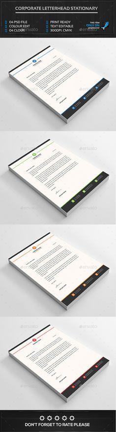 Letterhead Template Letterhead template, Stationery and Templates - corporate letterhead template