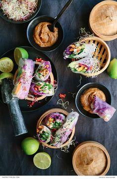 Delicious, easy to make Vietnamese spring rolls with peanut sauce