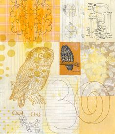 A Collage A Day: Stygian Owl