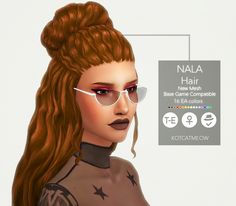kotcatmeow: A new hairstyle Nala for your female sims!I hope. kotcatmeow: A new hairstyle Nala for The Sims 4 Cabelos, Pelo Sims, Sims 4 Characters, Sims 4 Mm Cc, Hair Pack, Sims Hair, The Sims 4 Download, Lavender Hair, Sims 4 Cas