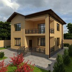 New House Fachada Small Ideas Two Story House Design, 2 Storey House Design, Bungalow House Design, Dream House Exterior, Dream House Plans, Small House Plans, Narrow House Designs, House Outside Design, House Construction Plan