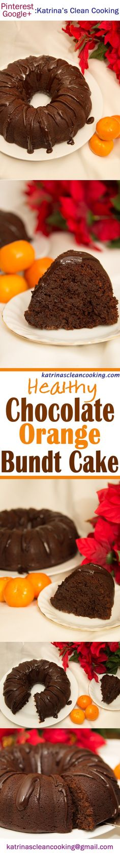 Healthy Chocolate Orange Bundt cake: refined-sugar-free, can be gluten-free & dairy-free, contains no butter/oil! Soft, chocolaty and fudgy, easy to bake! Chocolate Orange, Healthy Chocolate, Clean Eating Recipes, Healthy Recipes, Orange Bundt Cake, Pound Cake Recipes, Epiphany, Low Sugar, Glutenfree