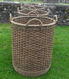 Large pedlar's baskets made for Outlander television series. Made by All About Willow