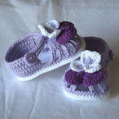 Gehäkelte Babyschuhe häkeln Baby Sandalen häkeln Baby