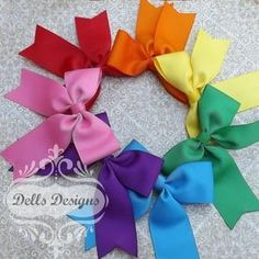 Set of 8 Tails down Bows