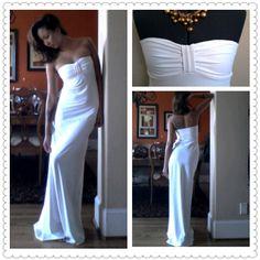Stretchy White Maxi Dress