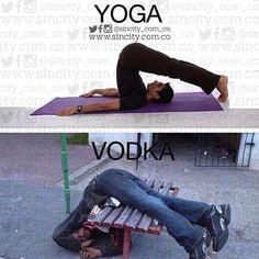 Distintas practicas, un mismo sentimiento. #yoga #vodka #lol #sincity #goodmorn #cuantosasi #igers #igerscolombia #haha #botd