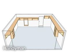 Maximize garage storage -- DIY shelves for unused space.