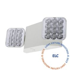 **ALL LED** Emergency Light - White Housing - Remote Head Ready