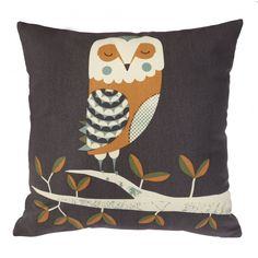 Magpie Wildlife Owl Cushion by Tom frost
